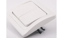 ELA001 Выключатель ордин белый/золото