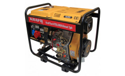 KTEL5KW Generator Diesel 5KW,3PH start electric KraftTool KTEL5KW (Diesel generator,5KW,with wheels)