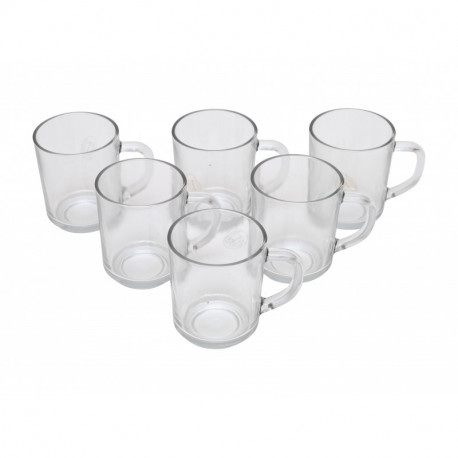 Cană din sticlă set 6 pcs ZB24