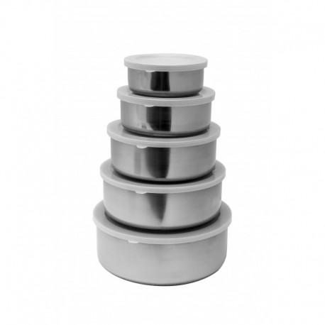 Set vase din inox 5 buc. pentru frigider 1/60 PCS