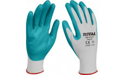 Нитриловые защитные перчатки + текстиль XL TSP12101 TOTAL