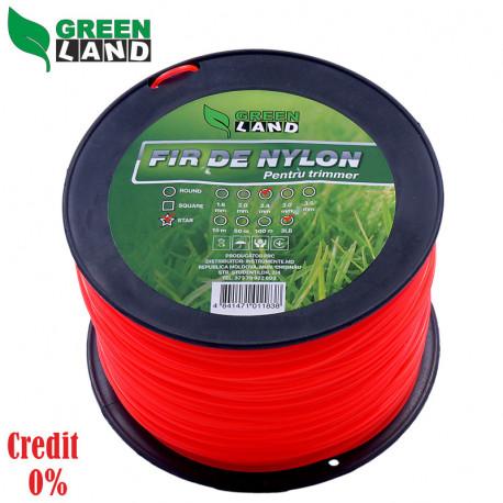 Fir de nylon pentru trimer GL-2.4x3LB stea GreenLand